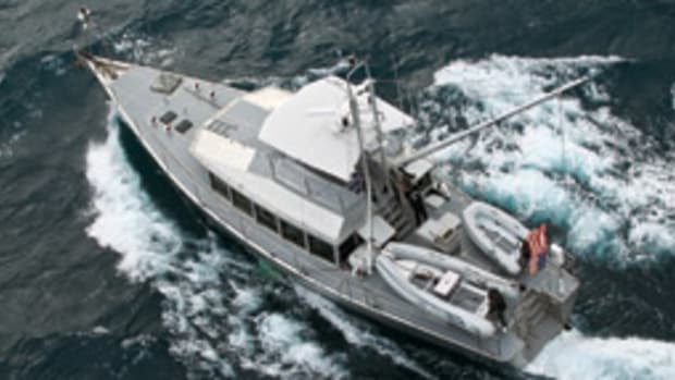 The 64-foot aluminum cruiser owned by Mike and Carol Brooks Parker was among 338 foreign-owned yachts impounded by Mexican authorities.