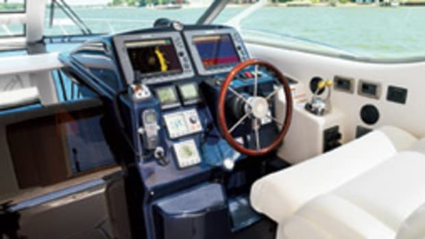 A well thought-out helm places the wheel, controls, switches and displays easily within the skipper's reach, particularly when the captain's seated.