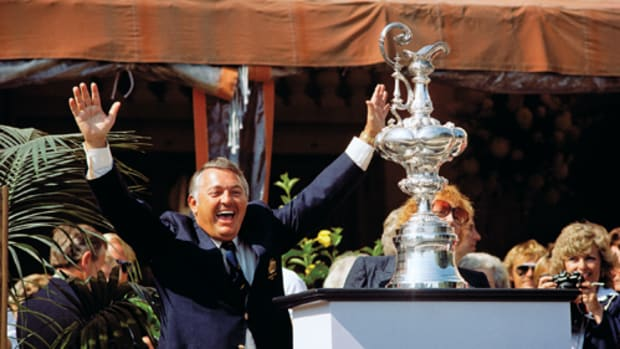 Alan Bond funded the Australian syndicate that won the America's Cup in 1983, ending a 132-year U.S. winning streak.