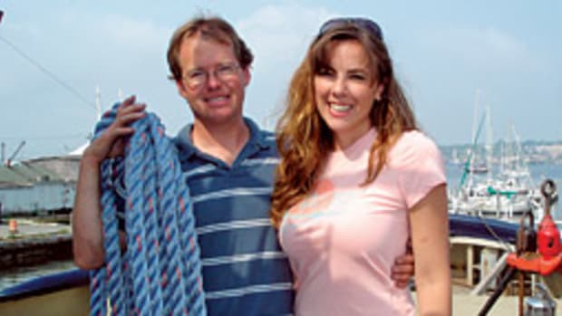 Matt and Wendy Fogg, with the financial help of Matt's parents, restored the 71-foot former Army tug in Fairhaven, Mass., and toured the Great Lakes with it last summer.