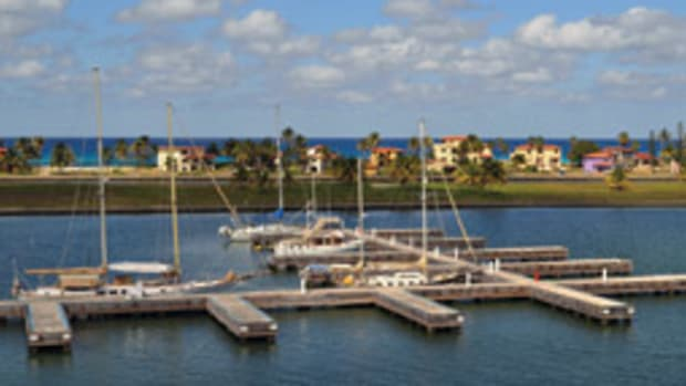 The Marina Darsena, in Varadero, Matanzas, is atypically modern for Cuba.