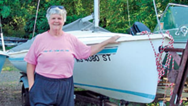 Mary Breeding joined the Pioneer Valley Yacht CLub in 2000 and is in the midst of a 3-year term as commodore.
