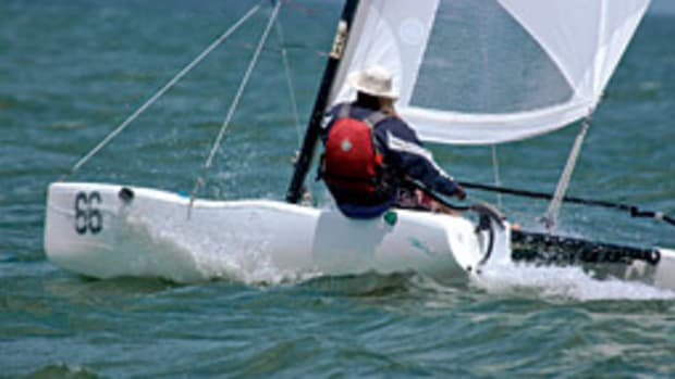 The national series event for the 13-foot Hobie Waves, like this one, will take place Jan. 17-18