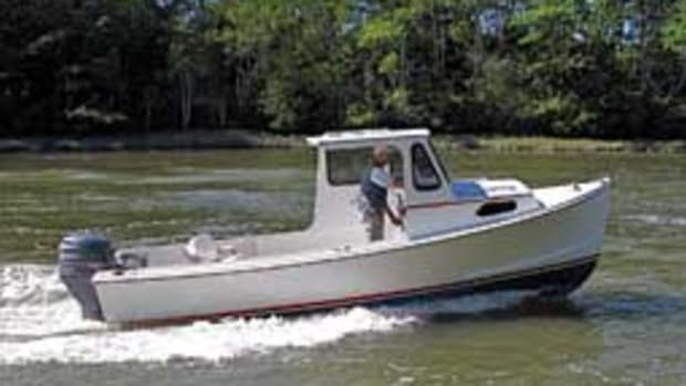 The Crowley-Beal 23 is a handsome round-bilge Down Easter that's trailerable and powered with a modest outboard.
