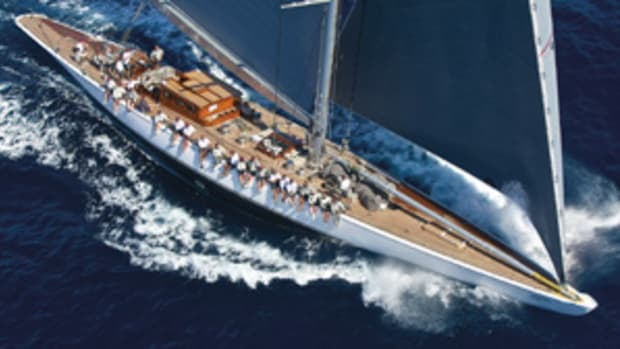 The replica of Ranger, the 1937 America's Cup winner designed by Starling Burgess, is a member of the new J Class.