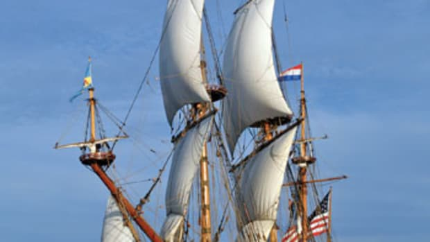 The Kalmar Nyckel is a replica of the ship that was used to establish the New Sweden colony in the Delaware Valley.