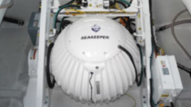 Seakeeper says its gyro stabilizer technology virtually eliminates boat roll at low speeds and at anchor.