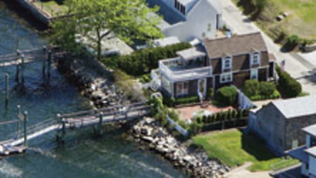 The home is on the Sakonnet River in Tiverton, R.I.