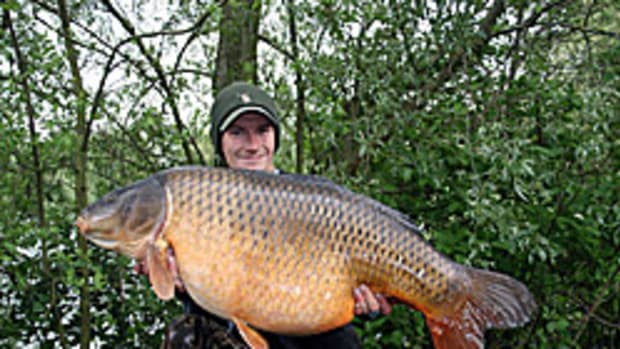 Matthew Ridley is one of the last anglers to catch and release the 64-pound carp.