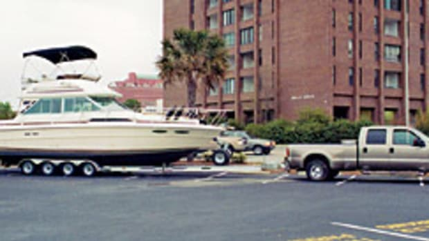 South Carolina boaters Bob Elliott and his wife Jenny extend their cruising grounds by trailering their 34-foot Sea Ray as far south as Florida.