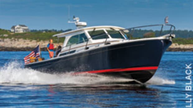 The writer found the Downeast 37 to be a seakindly and seaworthy cruiser.
