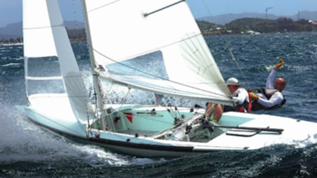 An athletic boat, the Tempest has a lifting keel, a spinnaker and planing performance.