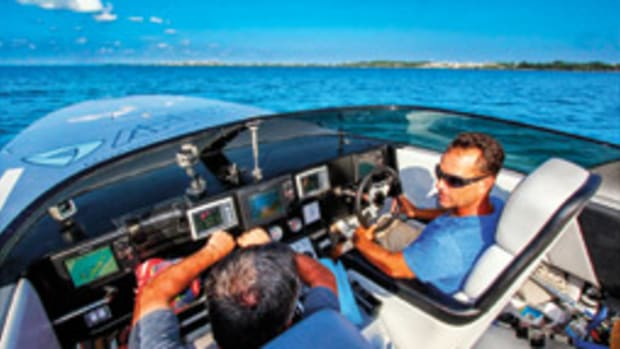 Chris Fertig's favorite place is behind the wheel of a fast boat.