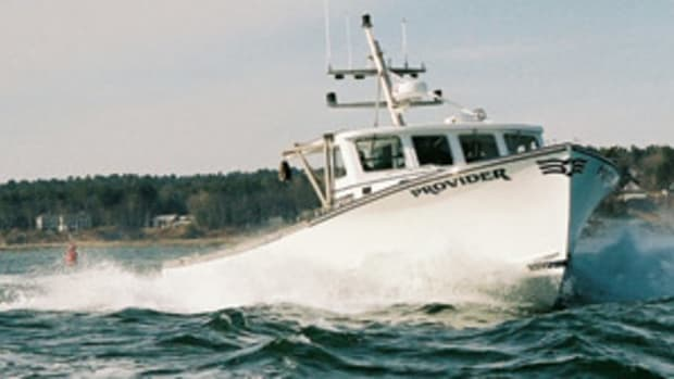 The Lowell 43 split pilothouse lobster boat, Provider.
