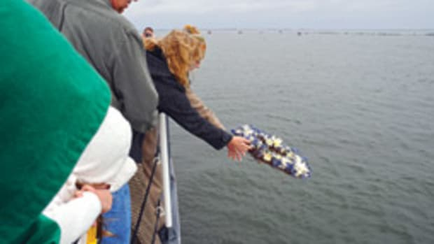The 17th anniversary of the loss of Morning Dew was observed with tributes by family members and the Coast Guard.