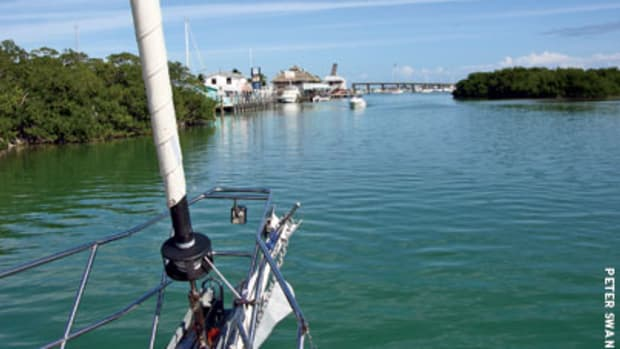 Approaching the entrance to Boot Key Harbor, there is a much more orderly mooring field than cruisers from years ago will remember.