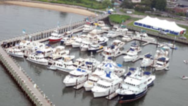 The Greenport, N.Y., Trawler Fest attracted around 800 power cruisers.