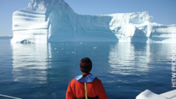 The crew found the icebergs awe-inspiring.