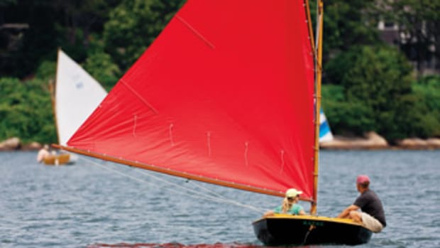Sailing a catboat requires courage from novices but there are many reasons for the design's devoted following.