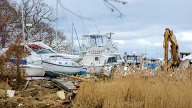 Hurricane Sandy in 2012 left hundreds of damaged and destroyed boats in its wake.
