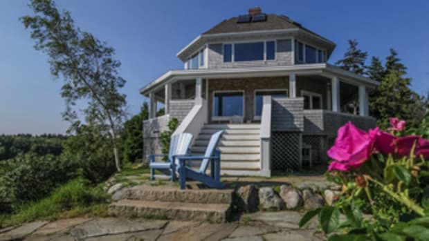 The shingle-style cottage on Bailey Island was built in 1900.