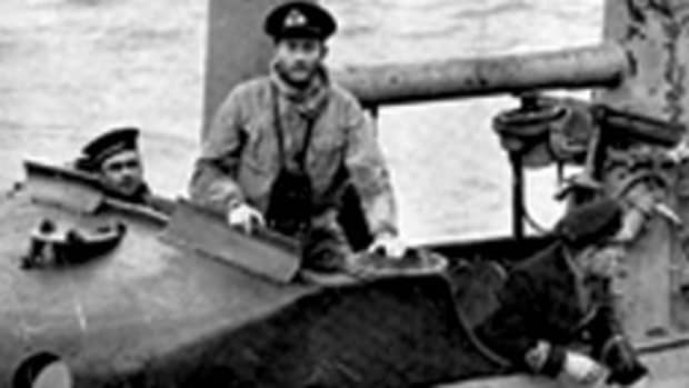 Bill King on board Snapper, his first submarine command.