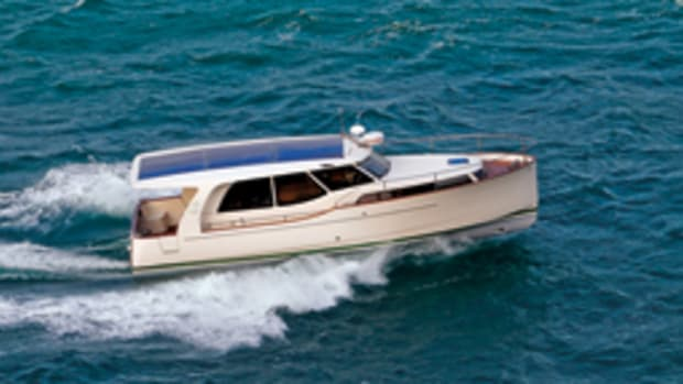 Greenline Yachts has sold 300 of its energy-efficient cruisers (the 33 is shown here) and has turned its focus to the United States.