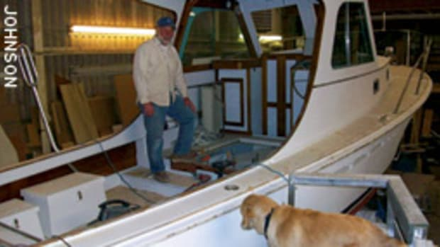 Boatbuilder Joe Reid has been doing maintenance and wooden boat repars for the last couple of years, but there has never been 'serious interest' in his Thomas Point 40.