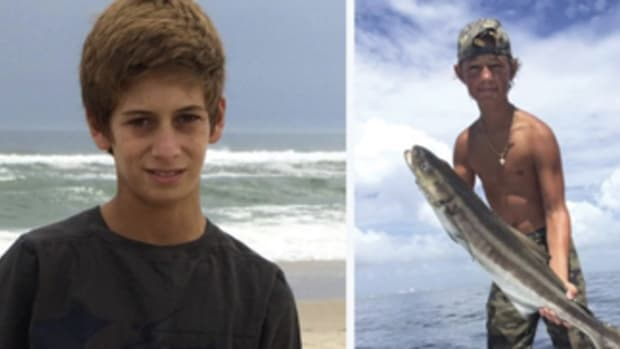 Perry Cohen and Austin Blu Stephanos were lost at sea during a fishing trip in July.