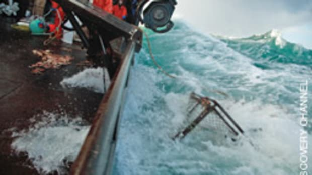 The television program, in its seventh season, shows the perils of fishing for crab in the often brutal Bering Sea.