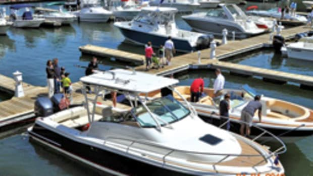 More than 80 new boats, ranging from 22 to 52 feet, will be displayed in April at the Greenwich In-Water Boat Show.