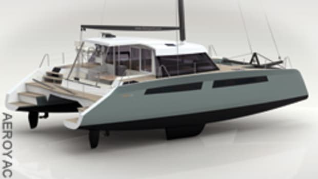 The Alpha 42 cruising catamaran is being built in Patchogue, N.Y.