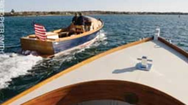 The Monomoy First Light 26 is designed for coastal dayboating.