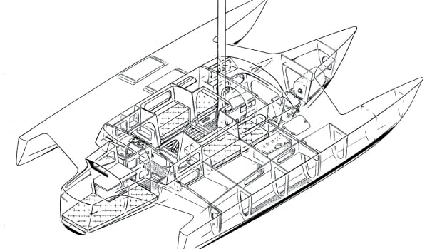 Jim Brown's design for his Brown 31 trimaran