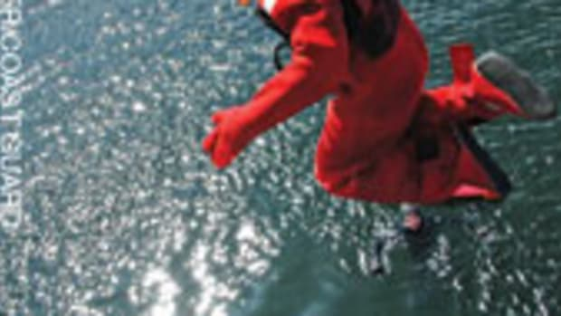 A survival suit can mean the difference between life and death in cold-water rescues.