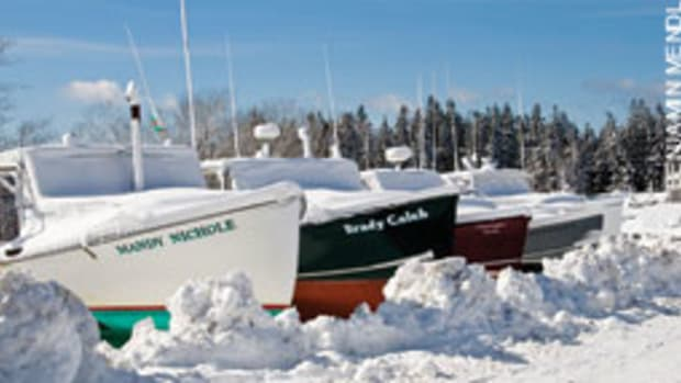 Lobster boats in Brooklin