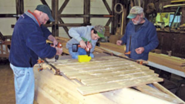 The Apprentice for a Day program at the Chesapeake Bay Maritiime Museum in St. Michaels offers the public a chance to learn traditional Chesapeake boatbuilding techniques.