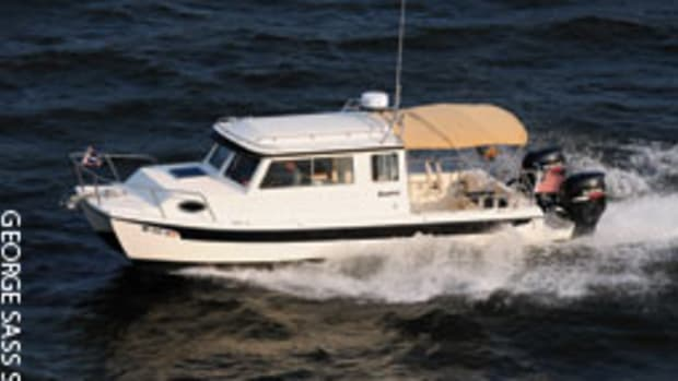 The C-Dory TomCat 255 power catamaran