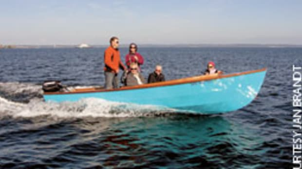 The Jim Brandt family enjoys a spin on Puget Sound.