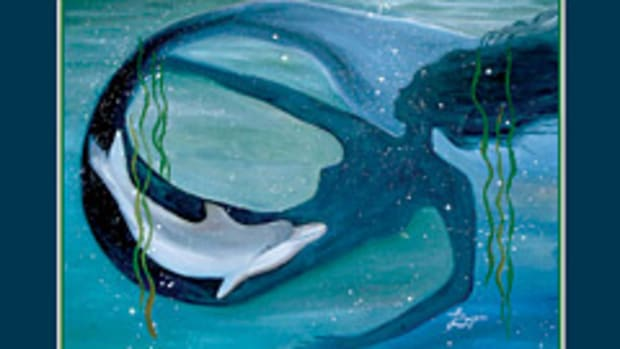 Painter Theresa LaBrecque fell in love with boating off Cape Cod with her dog, which inspired her artistic focus on mermaids.