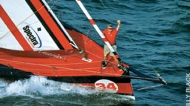 Van Liew, aboard 2002 Around Alone-winning Tommy Hilfiger Freedom America