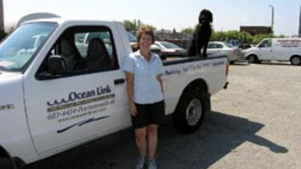 Years of living and working on boats helps Terry Cortvriend anticipate the needs of her Ocean Link customers.