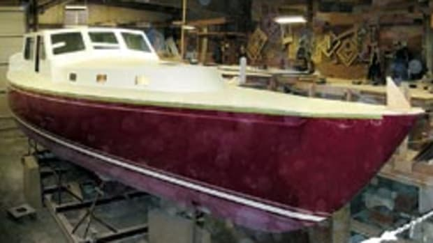 Bitchin's Global 52 is under construction at Shannon Yachts in Bristol, R.I.