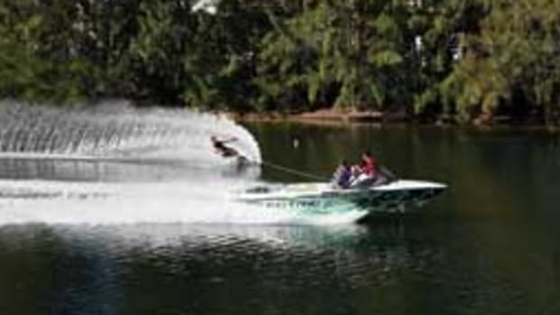 The prototype Ski Nautique E has a top end of 40 mph.