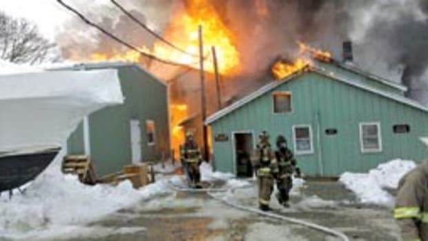 It took more than 100 firefighters to extinguish the February blaze at the Burgess, Va.-based yard.