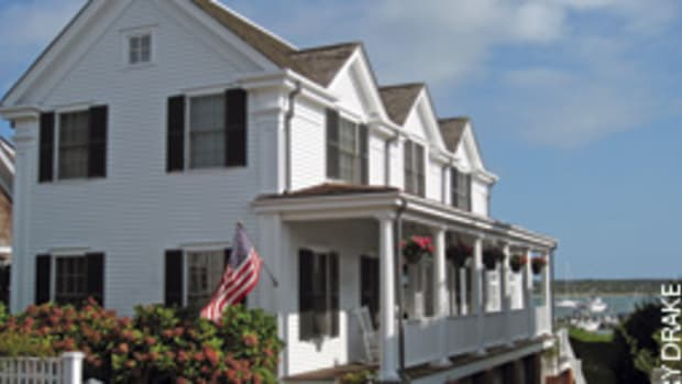 The Edgartown, Mass., home was built in 1995 to blend with the neighboring historic whaling captains' homes.