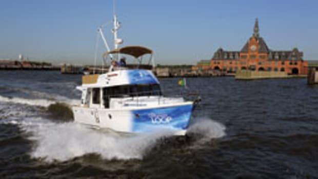 The Beneteau Swift Trawler 34 had a rotating crew during the 4-month voyage.