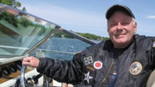 "For Army veteran Roger DeVries, happiness is a ""new"" 36-year-old boat."