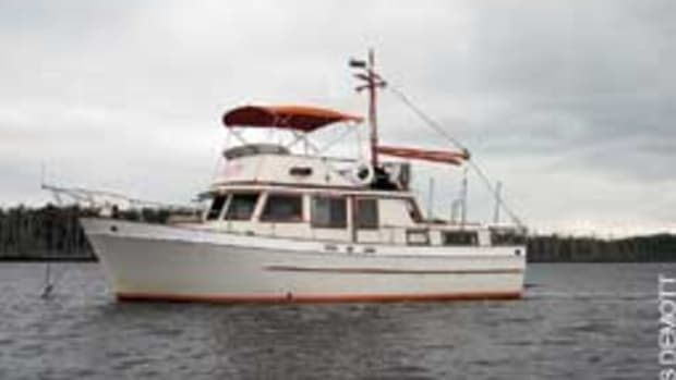 The DeMotts had the 1982 Marine Trader 38 completely refurbished.
