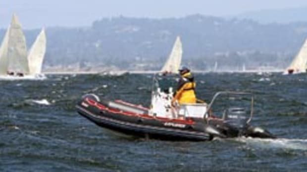 In line with his 'day job,' Hawley regularly pulls shifts as a regatta safety officer.